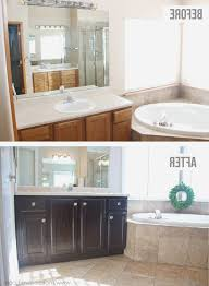 refinish bathroom cabinets beautiful how to stain oak cabinetse