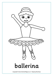 ballet colouring pages