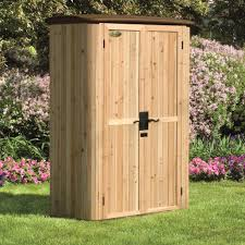 lawn garden gorgeous wooden garbage storage shed creative outdoor