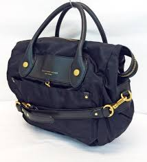 New York small travel bags images Marc jacobs preppy nylon pvc leather weekender satchel black jpg