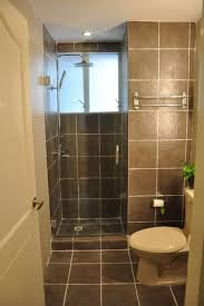interior casual decoration in small bathroom using black polished