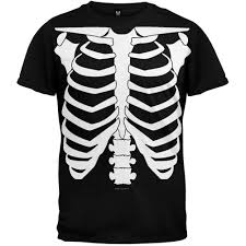 Halloween Hawaiian Shirt by Halloween Skeleton Glow In The Dark Costume T Shirt U2013 Oldglory Com