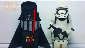 how to make star wars toilet paper roll craft figures darth vader