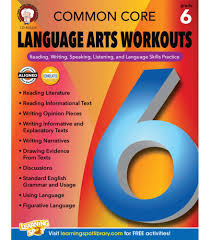 thanksgiving language arts worksheets common core language arts workouts resource book grade 6 carson