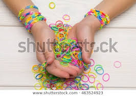 rubber bands rings images Girls hand wristbands rings made rubber stock photo edit now jpg
