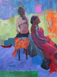 figurative painting with collage u2013 sold christine parker art blog
