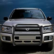 pathfinder nissan black 04 nissan pathfinder r50 front bumper protector brush grille guard