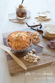 Red Kitchen Recipes - chunky feta dip with almonds