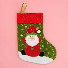 Christmas Stocking Tree Decoration 2018 Santa Stockings Santa Claus And Snowman Pattern Merry