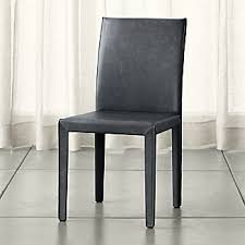 leather dining chairs crate and barrel