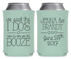 personalized wedding koozies wedding can coolers beverage insulators custom wedding favors