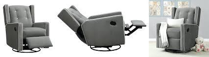 nursery reclining rocking chair medium image for leather glider
