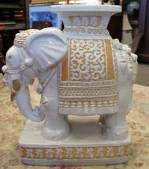 elephant end tables ceramic huge rare vintage ceramic asian elephant plant stand accent table