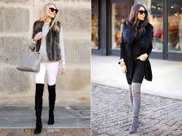 what to wear with over the knee boots fashion style tips