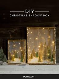 create an enchanted forest with this shadow box diy winter night
