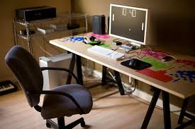 Solid Core Door Desk Workspace Inspiration Embracing The Door As Desk Option
