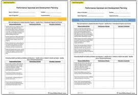 performance appraisal and development planning templates aussie
