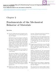 solution manual for manufacturing processes for engineering