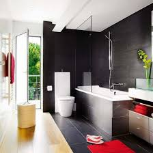 red and grey bathroom ideas blue shower case dark floating vanity