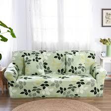 housse universelle canapé feuilles vert clair canapé canapé couvre pour salon multi slip coin