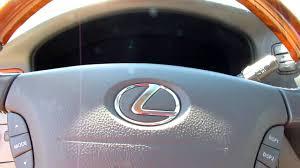 lexus steering wheel logo 2001 lexus ls 430 start up and telescoping steering wheel youtube