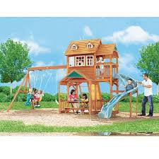 willowdale wood gym set big backyard toys