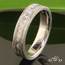engraved wedding rings engraved engagement and wedding rings
