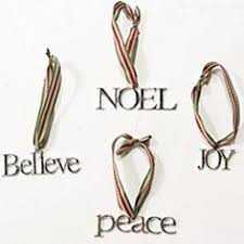 glitter word ornament inspirational word ornaments