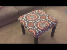 how to make a custom ottoman for under 15 youtube
