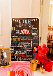 Welcome Table Circus Themed First Birthday Party