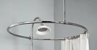 curtain ideas circular shower curtain rod for clawfoot tub