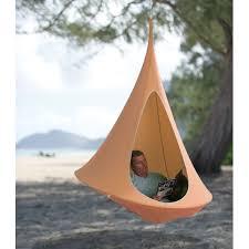 cool outdoor gadgets the hanging cocoon hammacher schlemmer here pinterest