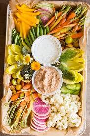 organic crudite platter heirloom la summer cravings