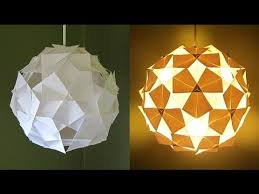 Paper Hanging Lamp Diy Lampshade Clover Pattern Learn How To Make A Hanging Lamp