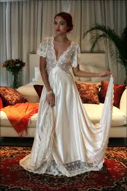 nightgowns for brides bridal nightgown amelia satin embroidered lace wedding