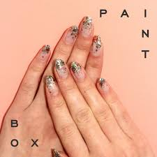 this diy glittery manicure is like a party for your nails nails