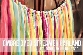 streamer backdrop ombre dyed fabric garland a tutorial