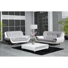 canapé 2 et 3 places canape design 3 2 places revetement pu et tissu achat vente