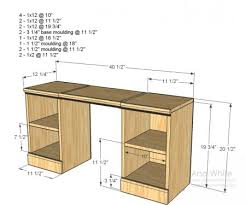 Plans For A Wooden Computer Desk by Ana White Plans For A Little Vanity Desk Would Be Perfect For The