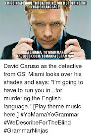 Csi Miami Memes - im going to haveto you in for murdering the torun english language