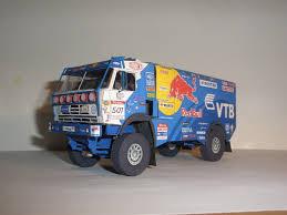 dakar 2009 kamaz 4326 9 truck free vehicle paper model papermodels