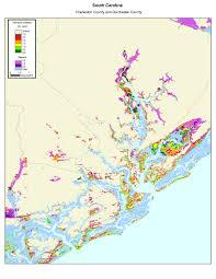 county map of sc more sea level rise maps of south carolina