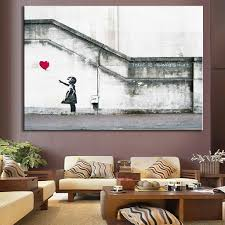 banksy home decor aliexpress com buy banksy art there is always hope bright