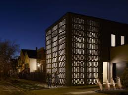 modern brick house brick weave house