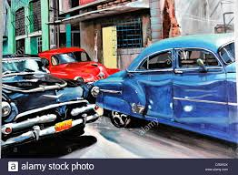 vintage cars 1950s painting oil painting cars vintage or classic cars from the