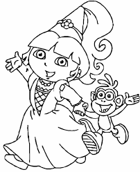 beautiful dora the explorer coloring pages to print car with dora
