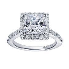 square rings jewelry images 14kt square diamond halo princess cut diamond engagement ring jpg