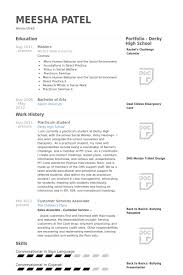 practicum student resume samples visualcv resume samples database