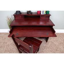 Student Writing Desk by Discovery World Merlot Student Desk With Hutch