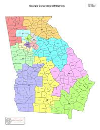 Map Of Tennessee And Georgia by Map Georgia U0027s Congressional Districts